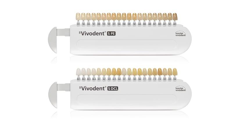 Les teintiers multifonctions SR Vivodent S PE et SR Vivodent S DCL vous aident non seulement à choisir la teinte de dent appropriée mais offrent également