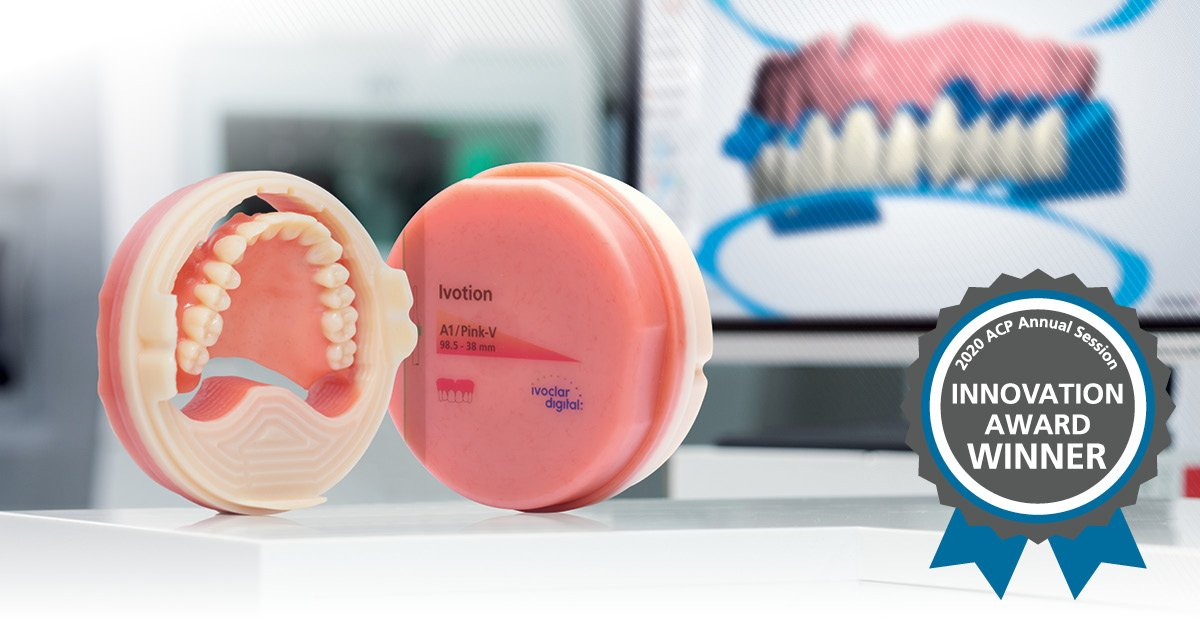 El Sistema de prótesis Ivotion Digital Denture gana el premio de la ACP Product Innovation Showcase 2020